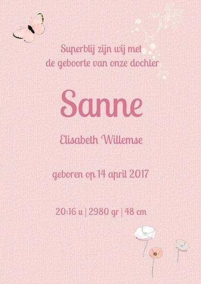 Lief geboortekaartje HERTJE Roze 3