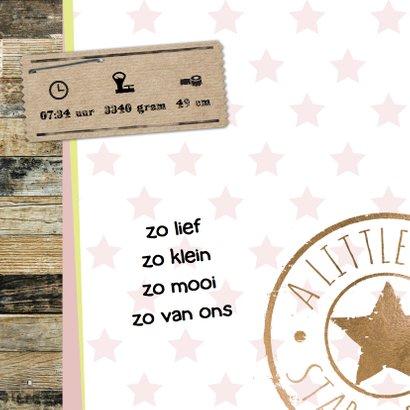 Lief geboortekaartje hout en stempel 2