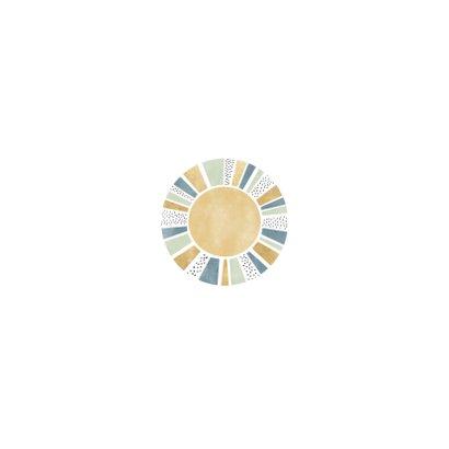 Lief geboortekaartje jongen met zonnetje, stipjes en goud Achterkant