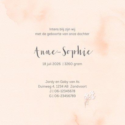 Lief geboortekaartje met bloemenkrans 3