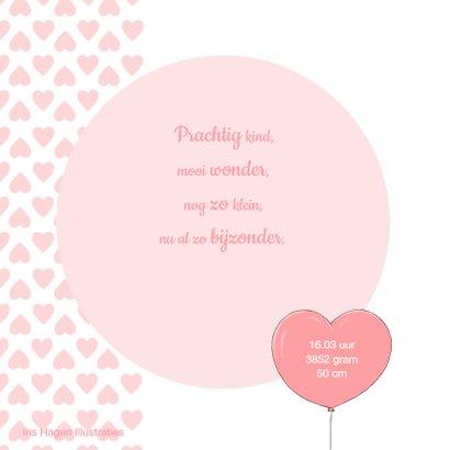 Lief geboortekaartje met meisje in onesie en pandabeertje 2