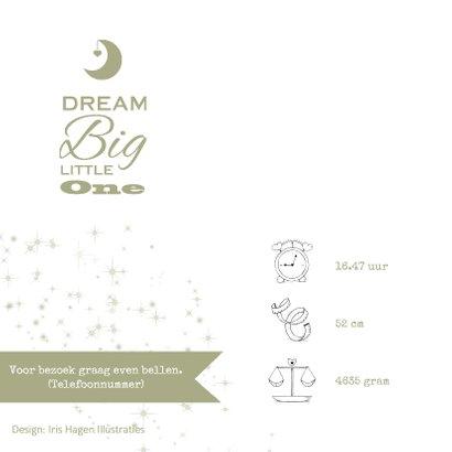Lief geboortekaartje met olifantje en sterren jongen  2