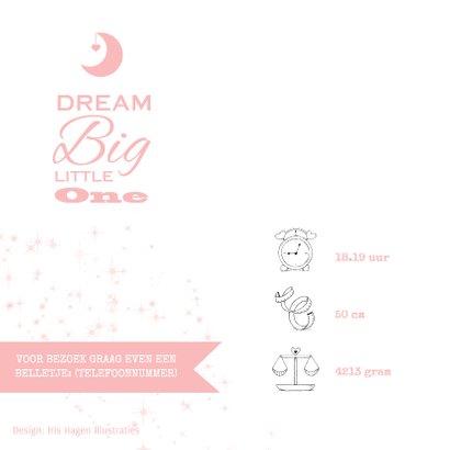 Lief geboortekaartje met olifantje en wensbloem meisje 2