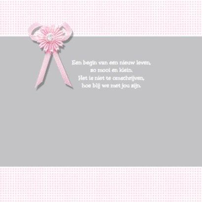 Lief geboortekaartje met strikje - Yara 2