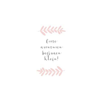 Lief geboortekaartje voor een meisje met roze takje 2
