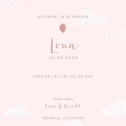 Lief geboortekaartje voor meisje olifantje aan ballon 3