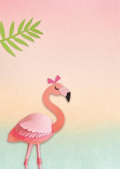 Lief klein meisje flamingo 2
