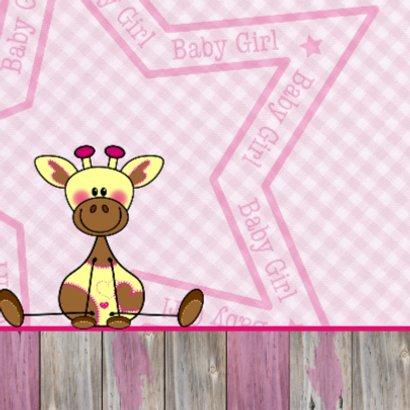 Lief meisje geboren Giraffe ROZE 2