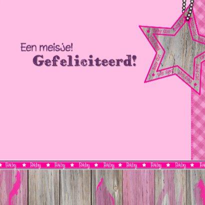 Lief meisje GIRAFFE felicitatie 3