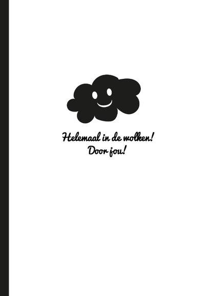 Liefde - Helemaal in de wolken door jou! Hippe kaart 3