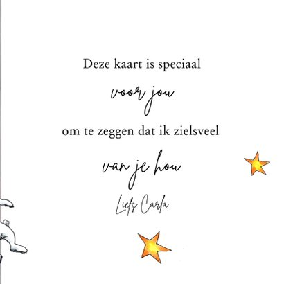 Liefde kaart I'm over the moon for you 3