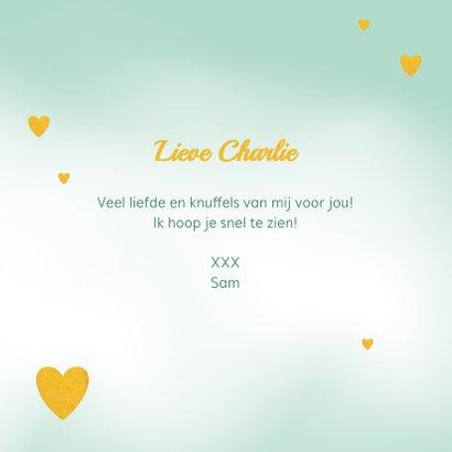 Liefde kaart, ik stuur je veel liefde en ik denk aan jou 3