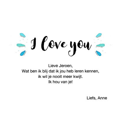 Liefde kaart- Lucky to have you 3