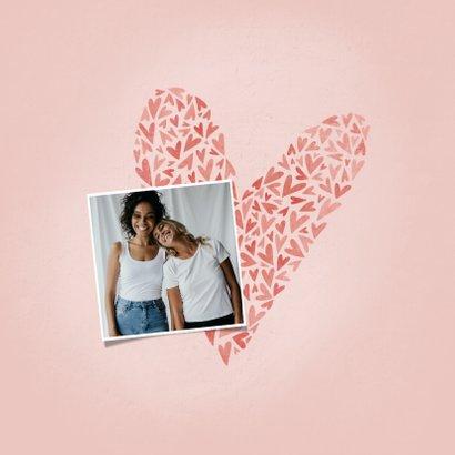Liefde kaart met hart voor de liefste VRIENDIN 2