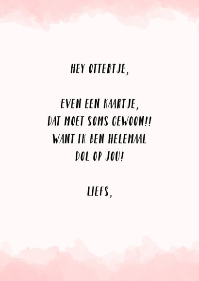 Liefde kaart ottertje - You're my significant otter! 3