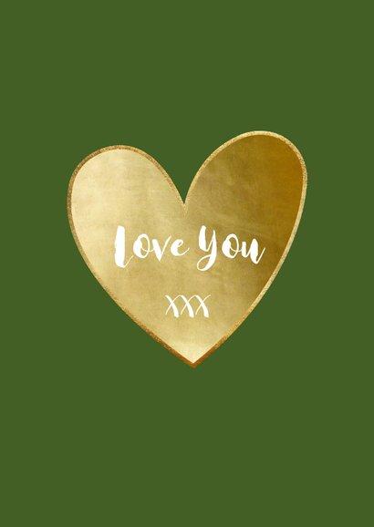 Liefde kaart uil Owl always love you - gouden hart 3