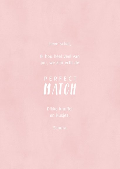 Liefdekaart illustratie lucifers 'Perfect Match' 3