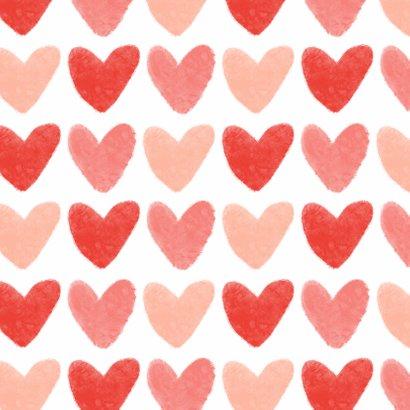 Liefdekaart liefde hartjes fijne valentijn roze rood 2