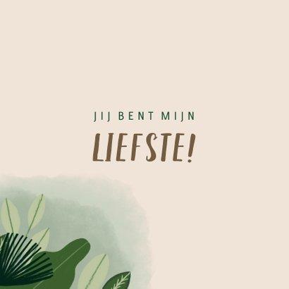 Liefdekaart met leuke quote en jungle illustratie 2