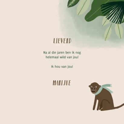 Liefdekaart met leuke quote en jungle illustratie 3