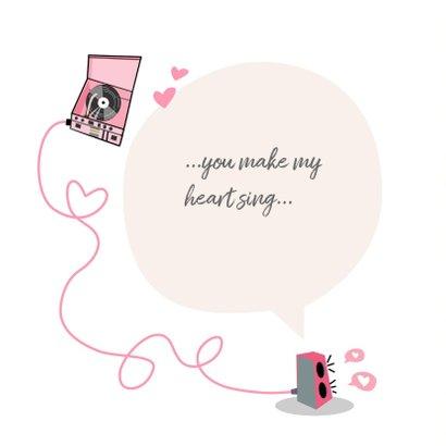 Liefdekaart met muziek 2