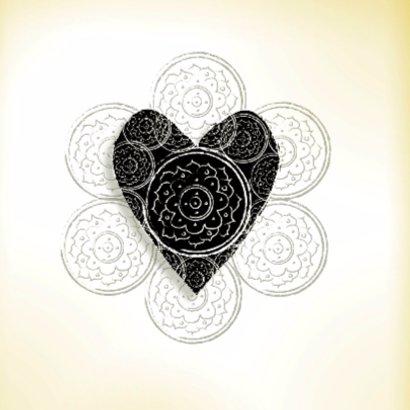 Liefdekaart Vintage Heart  2