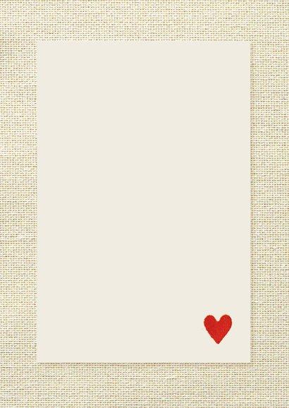 Liefdes kaart glitter 3