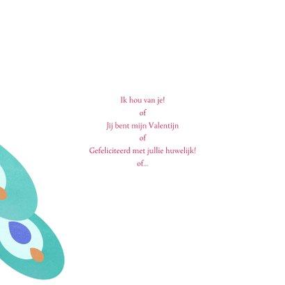 Liefdeskaart met twee pauwen 3