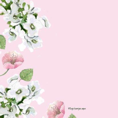 Liefdeskaart Romantische bloemen 2
