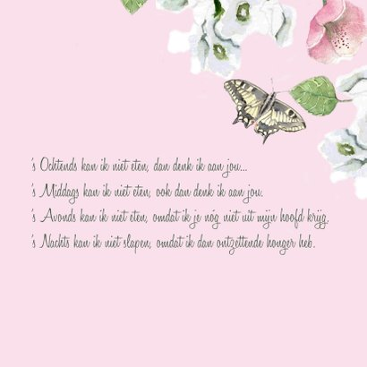 Liefdeskaart Romantische bloemen 3