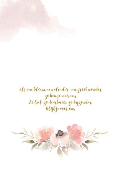 Liefdevolle dankbetuiging overlijden met bloesems 2