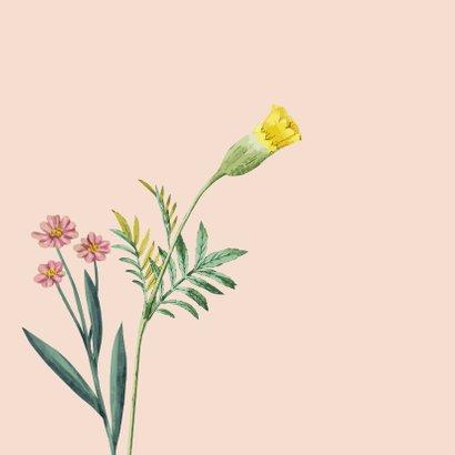 Liefs en sterkte - bloemen - zomaar kaart 2