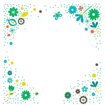 Liefs met groene bloemen 3
