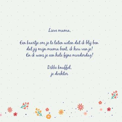 Liefste mama - flowers and dots - moederdagkaart 3