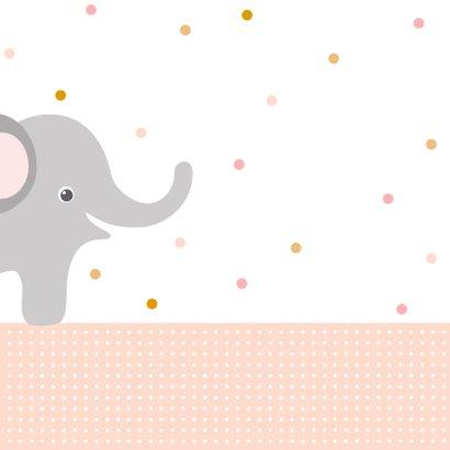 Lieve kaart met knuffel en olifant  2
