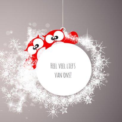 Lieve kerstkaart beter jaar met sterren en dieren 3