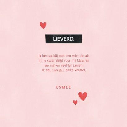 Lieve liefde kaart met hartjes, knuffel zomaar voor jou 3