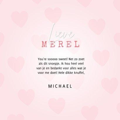 Lieve Liefdekaart met snoephartje foto & I love you so much 3