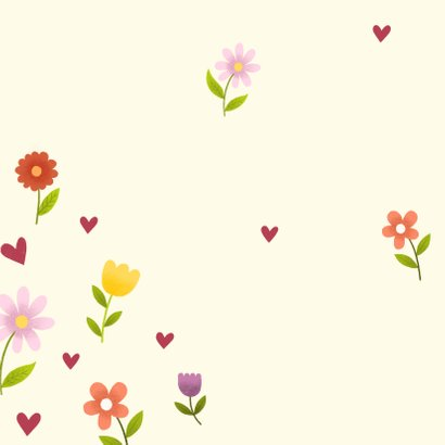 Lieve opa en oma kaart met bosje bloemen, knuffel en foto 2