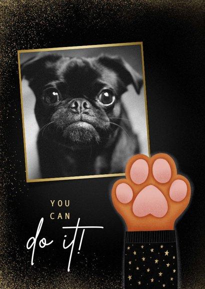 Lieve Stay Pawsitive nieuwjaarskaart met hondenpootje 2