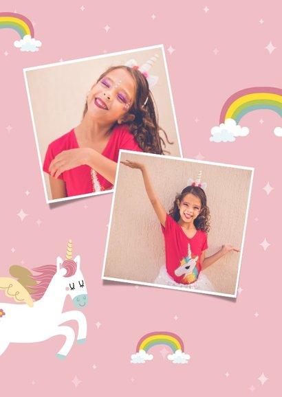 Lieve uitnodiging voor een kinderfeestje met eenhoorns 2