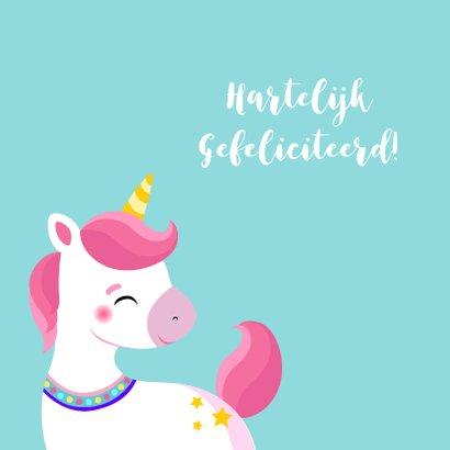 Lieve unicorn verjaardagskaart 2