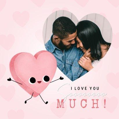 Lieve Valentijnskaart hartjes & snoephartje You're so sweet! 2