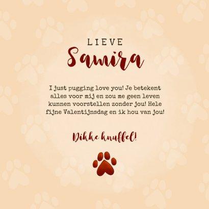 Lieve Valentijnskaart I pugging love you met pug en hartjes 3