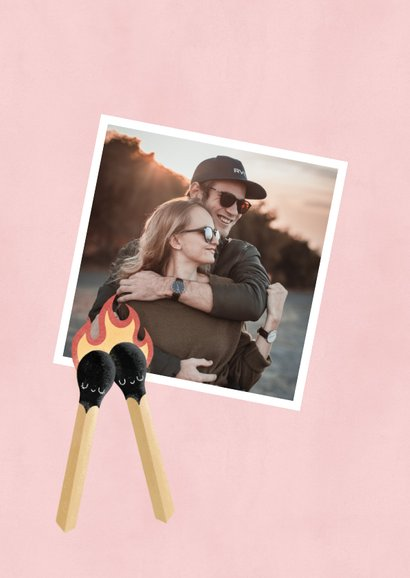 Lieve valentijnskaart illustratie lucifers 'Perfect Match' 2