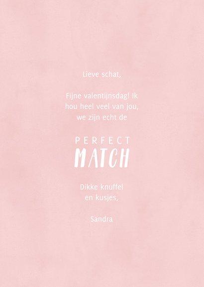 Lieve valentijnskaart illustratie lucifers 'Perfect Match' 3