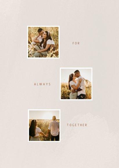 Lieve valentijnskaart met fotocollage in beige tinten  2