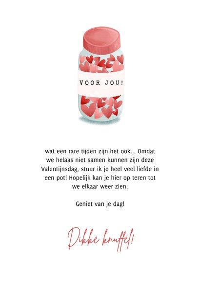 Lieve Valentijnskaart pot met voorraadje liefde 3