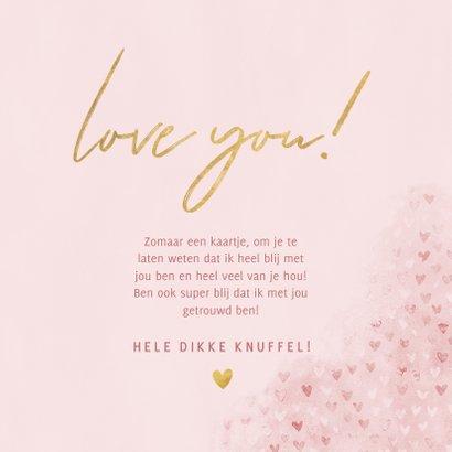 Lieve zomaar fotokaart hartjes, gouden Love You!, grote foto 3