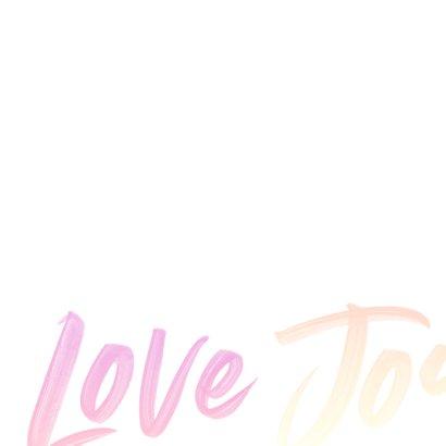 Love Peace Joy kerstkaart typografie 2